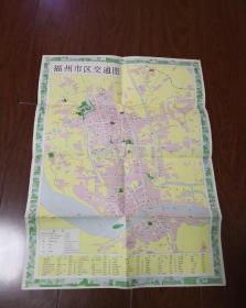 福州市交通游览图1980年一版一印