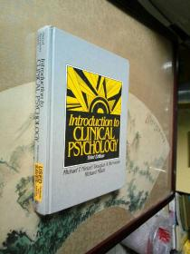Introduction to CLINICAL PSYCHOLOGY Third Edition 临床心理学导论第三版