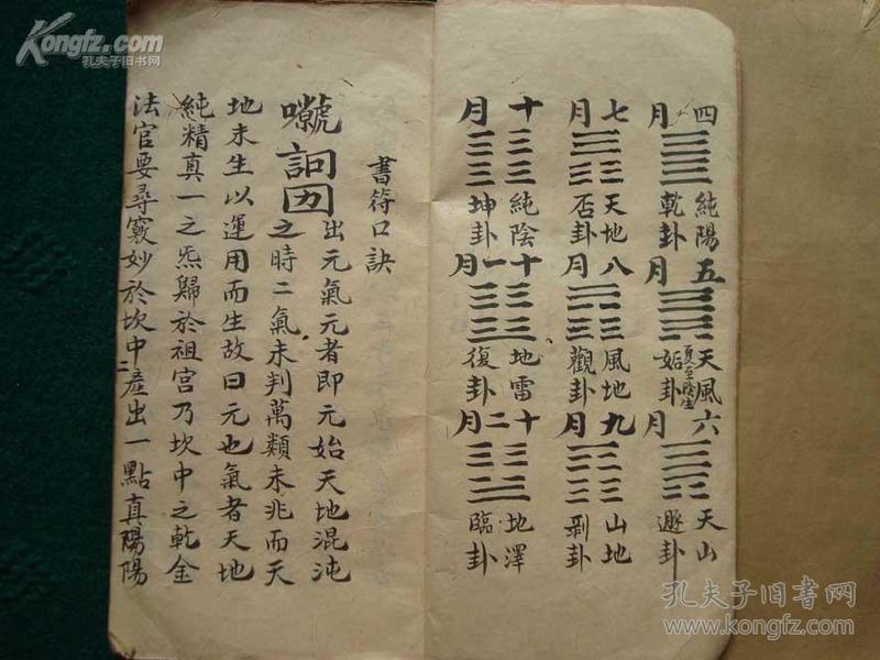 稀见符咒手抄秘本  《法官窍妙,书符秘本》   一册全