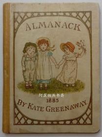 《1885年历书》著名女插画家凯特·格林纳威插图本袖珍开本Kate Greenaway绘本