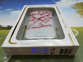苹果iPhone 4/4S 手机壳保护壳(白色壳红色心形图案)【未拆包装】
