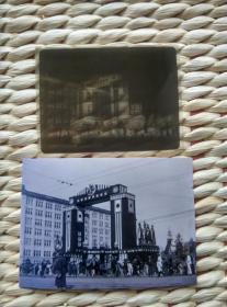 【超珍罕】1921年(大正十年)日本 老底片 好品相 干版玻璃底片(仅厚1mm) 另附送同底片扫描打印黑白照片一张 内容:皇太子殿下御帰朝 尺寸 10.7厘米X8.2厘米