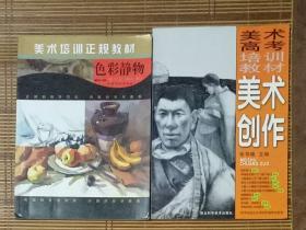 美术培训正规教材:色彩静物,美术创作二册