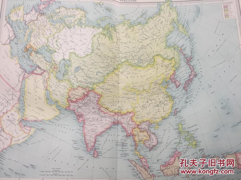 1922年  中国地图