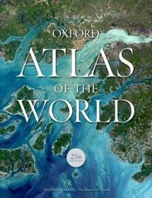 英文原版 Atlas of the World 世界地图集 牛津大学出版社 2018年最新第25版