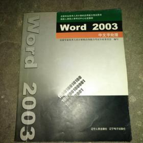 Word 2003中文字处理【带盘】