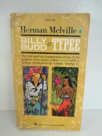 赫尔曼·梅尔维尔 Billy Budd and Typee by Herman Melville (Washington Square 1961年版) (美国经典文学)英文原版书
