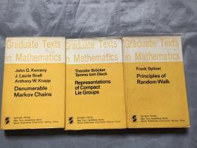 Graduate Texts in Mathematics(34.40.98)3本合售 16开精装英文原版    以图片为准