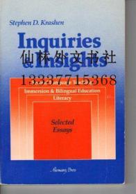 【包邮】Inquiries & insights: Second language teaching : immersion & bilingual education, literacy