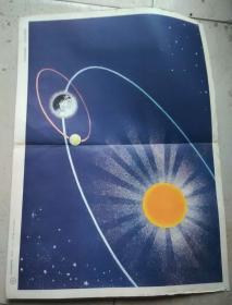 教学挂图-太阳地球月亮
