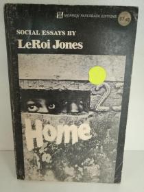 LeRoi Jones : Home Social Essays (美国黑人研究) 英文原版书