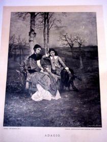 【稀见】【皮装】1886/1887年/奥地利皇家印刷坊刷/大型版画丛书图册《版画艺术》第9期/含原版木刻与铜版画(包括当代画家原作以及大画家作品的复制品)无数木刻/铜版印刷 DIE GRAPHISCHE KÜNSTE