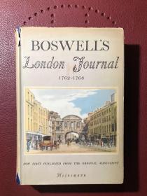 Boswell's London Journal 1762-1763 (鲍斯韦尔的伦敦日记1762-1763) 初版 1950年 精装 附英国私人藏书票