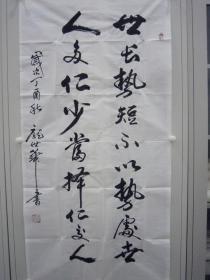 庞世华 行草 竖幅 135*39cm p1208-103