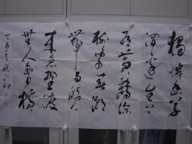 庞水印  行草 横幅 137*70cm p505-108
