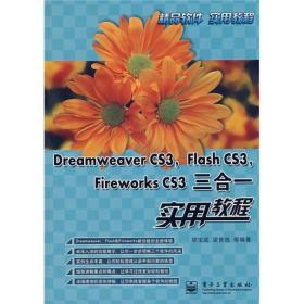 满29包邮 Dreamweaver CS3 Flash CS3 Fireworks CS3三合一实用教程 胡宝成