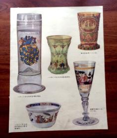 画报插页 国外玻璃杯制品插图(8开1张)