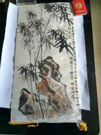 黄宾虹弟子、著名书画家许南湖 国画一幅  见图