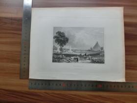 【现货 包邮】19世纪 铜/钢版画 单幅 WATERLOO(货号 200782)