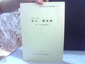 日文原版 昭和62.63年度.唐古.键遗迹