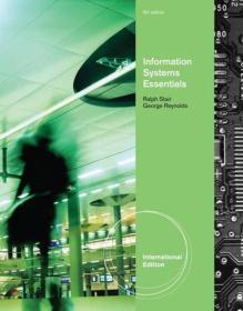 Fundamentals of Information Systems Essentials, International Edition[信息系统精要]