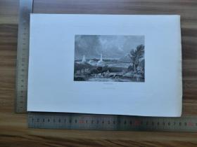 【现货 包邮】19世纪 铜/钢版画 单幅 WATERLOO (货号 200620)