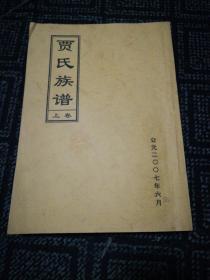 贾氏族谱(菏泽贾沟贾氏)(上卷)