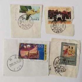 1995-25香港风光名胜邮票60分1枚1995-6桂花邮票20分1枚等信销邮票共计4枚合售