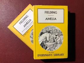 Amelia-Henry Fielding (阿米莉亚-亨利·菲尔丁,英文原版,全二册,精装,书衣完好)