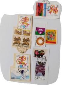 50分长城2枚1998-19中国德国联合发行承德普宁寺540分1枚等信销邮票共计8枚合售