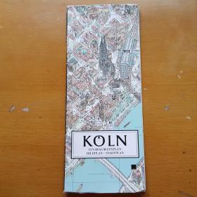 德国科隆旅游地图(德国原版)