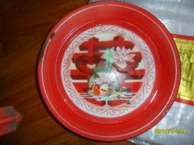 红灯牌喜字搪瓷盘