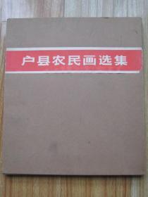 户县农民画选集  文革画册 10开盒装80张全套1975年人美1版1印 正版原版非常精美的大开本文革画册 85品以上