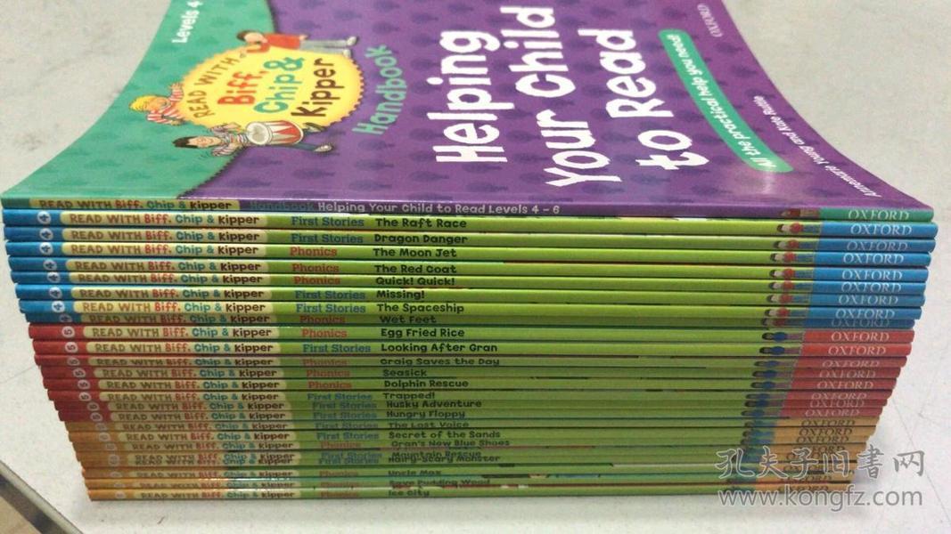 牛津有声读物Helping Your Child to Read(Read with Biff, Chip & Kipper Level 4-6)25本合售