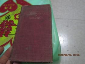 民国版:THE DICTIONARY OF GRAMMAR《英汉双解英文文法辞典》    1931年  印2000册  品自定   3-7号柜