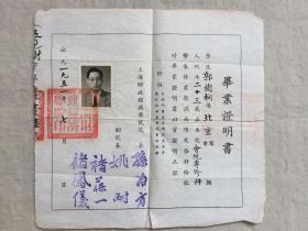 上海财政经济学院1950级毕业纪念刊 附本书中学生 毕业证明书一张  2件合卖