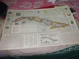 古巴外文地图