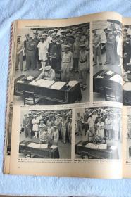 1945年9月17日《生活周刊 LIFE》英文版,二战日本密苏里战舰正式投降仪式大幅多幅照片,麦克阿瑟将军接管日本,日本广岛长崎被原子弹轰炸惨状,等报道等内容
