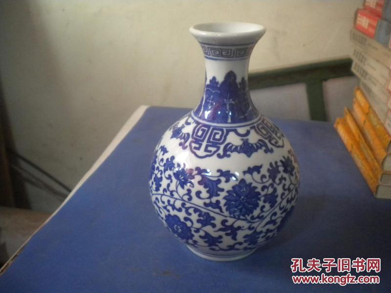 青花瓷     酒瓶 一个  如图