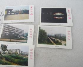宜宾市师专卡片(一套5张、尺寸和配图明信片一样大小,无外套)