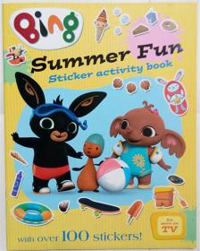 Bing  summer fun  sticker activity book  夏天好玩贴纸书活动  平装