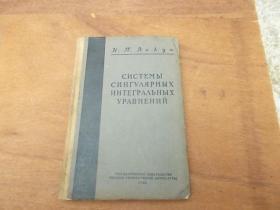 奇异积分方程组 俄文版
