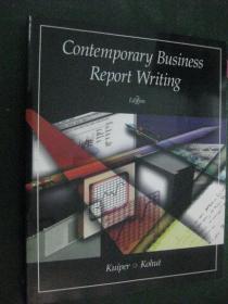 英文原版Contemporary Business Report Writing