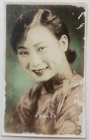 老上海电影明星胡蝶明信片民国美女老照片