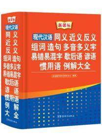 现代汉语同义 近义 反义 组词 造句 多音多义字 易错易混字 歇后语 谚语 惯用语 例解大全(新课标)