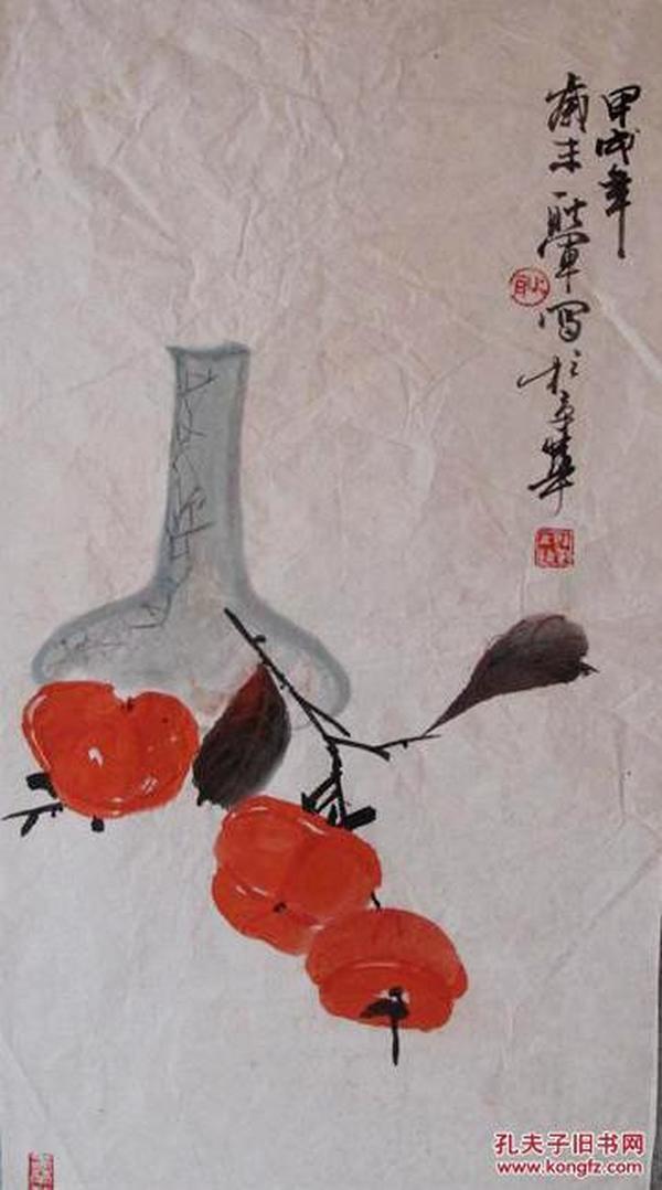 中国书法家协会会员、北京市美术家协会会员、北京市书法家协会理事、东城区书画协会艺术总监、北京书画研究会理事。东城区书法家协会副主席 耿军 绘清供图      【68×35厘米】