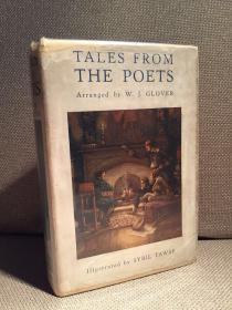 Tales from the Poets(《诗人笔下的故事》,难找的Sybil Tawse彩色插图,漂亮布面精装,难得带护封,1915珍贵英国初版)
