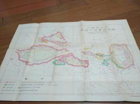 50年代根据民国申报地图绘制:中国西北区含油气远景预测图2开大【繁体字】