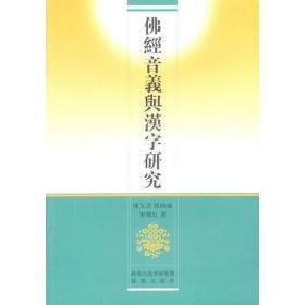 佛经音义与汉字研究