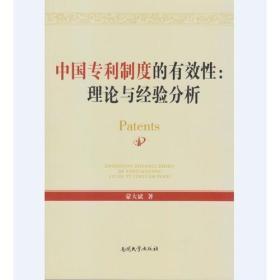 中国专利制度的有效性:理论与经验分析